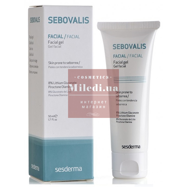 Гель лечебный для лица при себорейном дерматите - Sesderma Laboratories Sebovalis Facial Gel