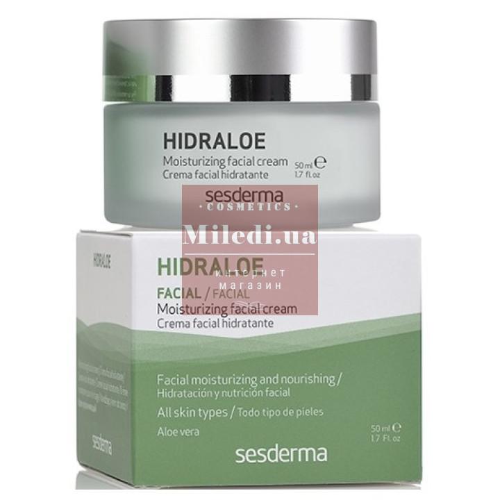 Крем увлажняющий для лица с экстрактом алоэ - Sesderma Laboratories Hidraloe Moisturizing Facial Cream, 50мл