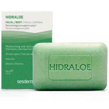 Мыло дерматологическое для чувствительной кожи - Sesderma Laboratories Hidraloe Facial Body Dermatological Soapless Soap