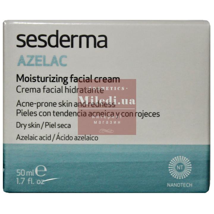 Крем увлажняющий при куперозе, демодексе и розацеа - Sesderma Laboratories Azelac Moisturizing Face Cream, 50мл