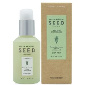 Антиоксидантная сыворотка с токоферолом, 50мл - The Face Shop Green Natural Seed Anti Oxid Essence