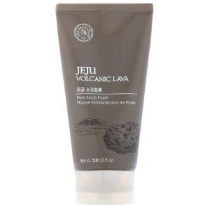 Пенка-скраб с экстрактом вулканической лавы, 150мл - The Face Shop Jeju Volcanic Lava Pore Scrub Foam