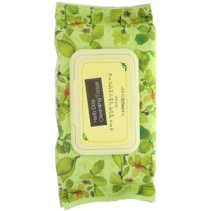 Салфетки для демакияжа губ и глаз, 30шт - The Face Shop Herb Day Lip & Eye Make-up Remover Tissue