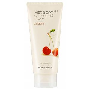 Пенка для умывания Ацерола, 170мл - THEFACESHOP Herb Day 365 Cleansing Foam Acerola