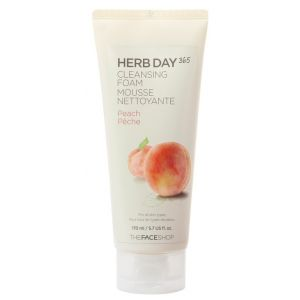 Пенка для умывания Персик, 170мл - THEFACESHOP Herb Day 365 Cleansing Foam Peach
