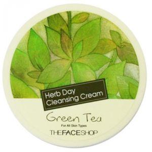 Крем Зеленый чай умывания, 150мл - THEFACESHOP Herb Day Cleansing Cream Green Tea