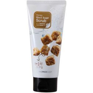 Пилинг-скраб с медом и черным сахаром, 120мл - THEFACESHOP Smart Peeling Honey Black Sugar Scrub