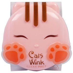 Пудра компактная стойкая - Tony Moly Cats Wink Clear Pact