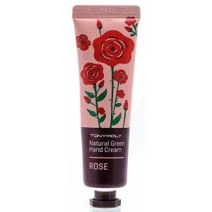 Крем для рук питательный с экстрактом розы - Tony Moly Natural Green Hand Cream Rose