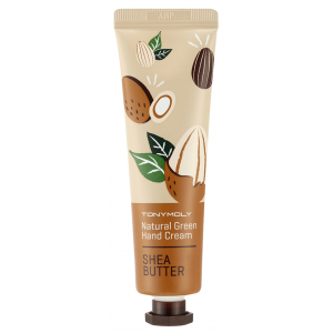 Крем для рук с маслом ши, 30мл - Tony Moly Natural Green Hand Cream Shea Butter