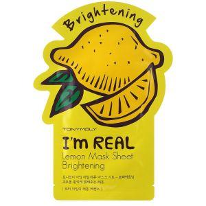 Тканевая маска Лимон, шт - Tony Moly I'm Real Lemon Mask Sheet Brightening