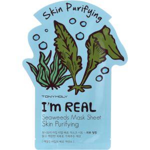 Тканевая маска Морские водоросли, шт - Tony Moly I'm Real Seaweeds Mask Sheet Skin Purifying