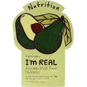 Тканевая маска Авокадо, шт - Tony Moly I'm Real Avocado Mask Sheet Nutrition