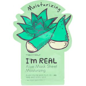 Тканевая маска Алоэ, шт - Tony Moly I'm Real Aloe Mask Sheet Moisturizing